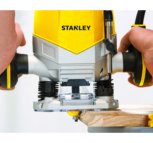 STRR1200 Фрезер Stanley, 1 200 Вт, 8.000 - 28.000 об/мин, макс.диаметр 55 мм, рег-ка скорости, аксессуары, картонная коробка