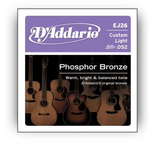 D`ADDARIO EJ26 PHOSPHOR BRONZE CUSTOM LIGHT 11-52