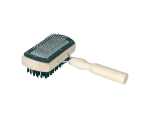 Пуходерка-щетка деревянная с напылением