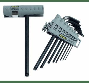 "0-89-904 Набор из 9-ти торцевых шестигранных Г-образных ключей Stanley ""Hex grip"" с рукояткой 1,5->10 мм"