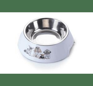 Пластиковая миска AnimAll с металлической вставкой для собак, 150 мл S