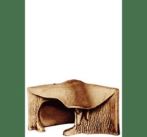 Грот для черепах угловой большой 18х22х12