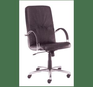 Крісло шкіряне MANAGER steel LE