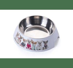 Пластиковая миска AnimAll с металлической вставкой для собак, 1,5 л XL