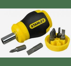"""Отвертка """"Stanley® Multibit Stubby"""" в комплекте с 6-тью вставками 0-66-357"""