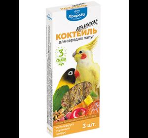 Коктейль колосок «Мультифрукт, ореховый, цитрус» Корм и лакомства для средних попугаев