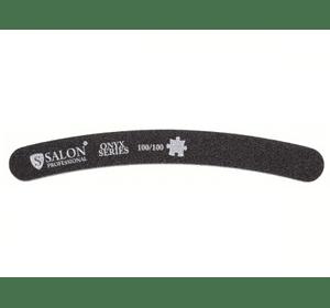Пилка Salon Professional 100/100, черная, бумеранг