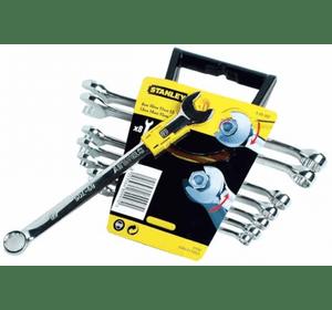 """4-89-997 Stanley Набор из 8-ми комбинированных гаечных ключей """"Accelerator"""" 8-16 мм ( без необходимости снимать ключ с крепежного элемента)"""