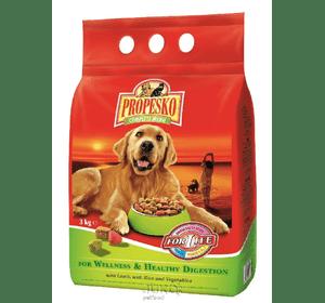 Корм сухой Propesko для собак, с ягненком, рисом и овощами, 10 кг