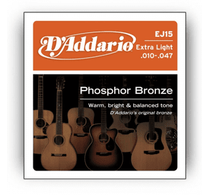 D`ADDARIO EJ15 PHOSPHOR BRONZE EXTRA LIGHT 10-47