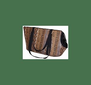 """Модный Зверь - сумка - переноска """"Питон"""" коричневый"""