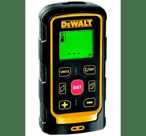 DW040P DeWALT лазерный дальномер 40 м, класс 2, ударопрочный, точность ± 3 мм на 40 м, 3 В, 2 батареии (ААА), защитный чехол для ношения на поясе, ремень для переноски на запястье, 0.15 кг
