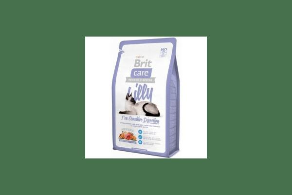 Brit Care Sensitive Digestion с ягненком и лососем для кошек с чувствительным пищеварением Вес :   400 г  2 кг - NaVolyni.com