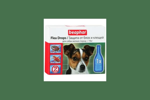 Beaphar капли от блох и клещей для собак мелких пород  капли от блох и клещей для собак мелких пород с шестимесячного возраста Артикул:  10832  Пипетки :   3 пипетки - NaVolyni.com