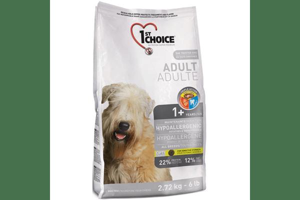 1st Choice (Фест Чойс) с уткой и картошкой гипоаллергенный сухой супер премиум корм для собак, 12 кг - NaVolyni.com