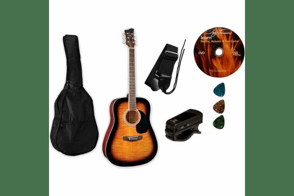 Jay Turser JJ45 PAK TSB акустична гітара (набір) - NaVolyni.com