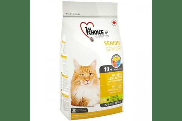 1st Choice (Фест Чойс) сухой супер премиум корм для пожилых или малоактивных котов - NaVolyni.com