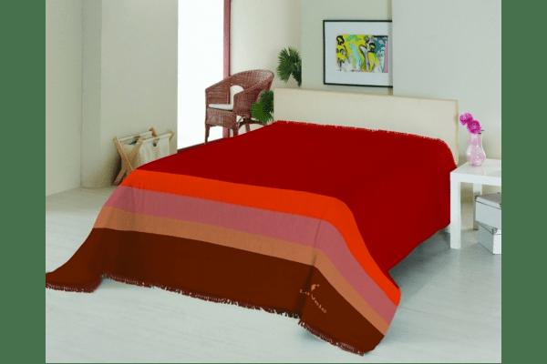 Плед на ліжко Le Vele Royal Stripes Terracotta - NaVolyni.com