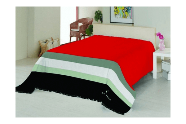 Плед на ліжко Le Vele Royal Stripes Red - NaVolyni.com