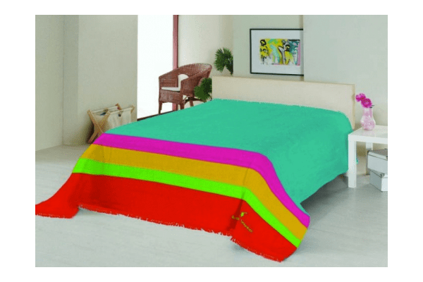 Плед на ліжко Le Vele Royal Stripes Turquoise - NaVolyni.com