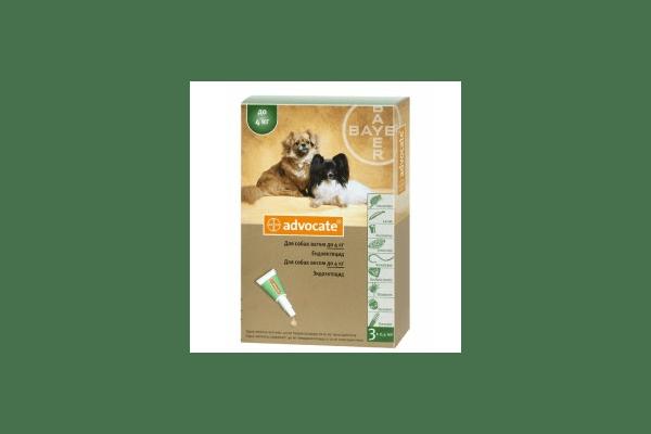 Advocate капли на холку против паразитов для собак до 4 кг.  1 пипетка - NaVolyni.com