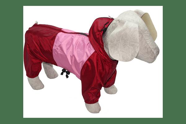 Дощовик з капюшоном – болон без підкладки, застібається блискавкою на спинці. Захистить від дощу літом. Для всіх порід собак. 15 розмірів. - NaVolyni.com