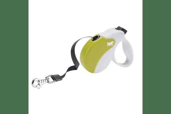 Рулетка Ферпласт Amigo Small лента бел/зел  Small, с длиной шнура 5 метров для собак с максимальным весом 15 кг. - NaVolyni.com