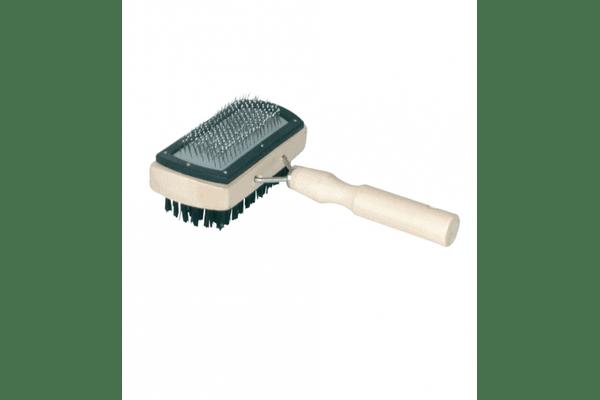 Пуходерка-щетка деревянная с напылением - NaVolyni.com