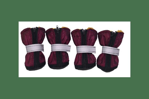 Черевички з хутром— тканина болон з пропиткою, всередені — штучне хутро, 7 розмірів. - NaVolyni.com