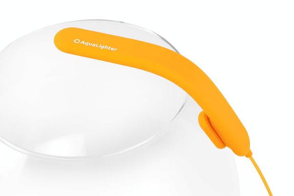 AquaLighter PicoSoft - инновационный гибкий LED светильник для круглых аквариумов. Жолтый - NaVolyni.com