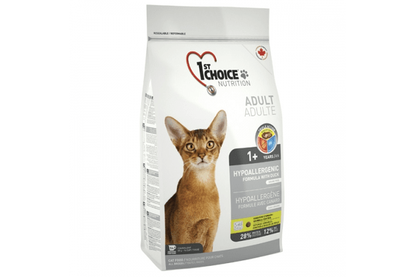 1st Choice (Фест Чойс) с уткой и картошкой гипоаллергенный сухой супер премиум корм для котов - NaVolyni.com