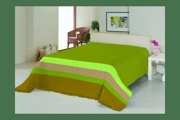 Плед на ліжко Le Vele Royal Stripes Green - NaVolyni.com