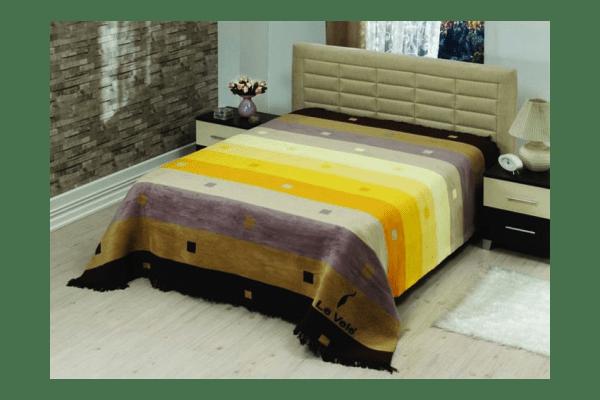 Плед на ліжко Le Vele Rainbow Brown - NaVolyni.com