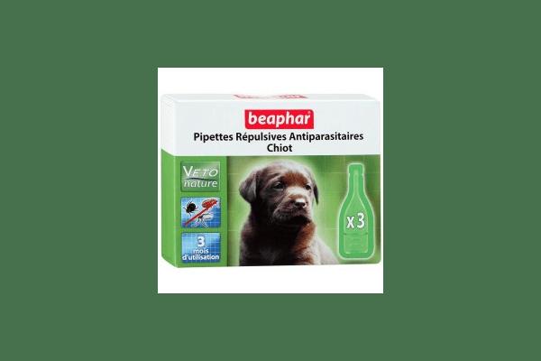 Beaphar капли Bio Spot On для щенков  антипаразитарные натуральные капли для щенков с 12 недельного вораста Артикул:  15611  Пипетки :   3 пипетки - NaVolyni.com