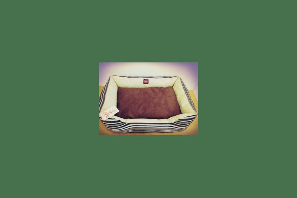 Лежак TM DIEGO коричневая полоска - NaVolyni.com