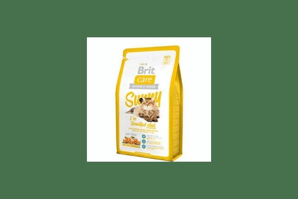 Brit Care Sunny Beautiful Hair для здоровья кожи и шерсти  гипоаллергенный корм с мясом лосося и рисом Вес :   400 г  2 кг  7 кг - NaVolyni.com