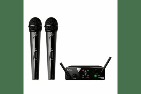AKG WMS40 Mini 2 Vocal Set (2 ручних мік.) безпровідна вокальна мікрофонна система - NaVolyni.com