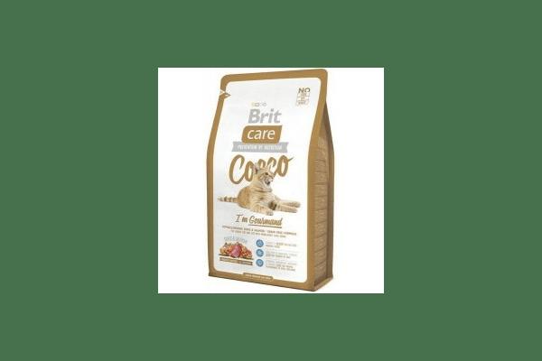 Brit Care Cocco Gourmand для привередливых кошек  гипоаллергенный беззерновой корм с мясом утки и лосося  Вес :   400 г  2 кг  7 кг - NaVolyni.com